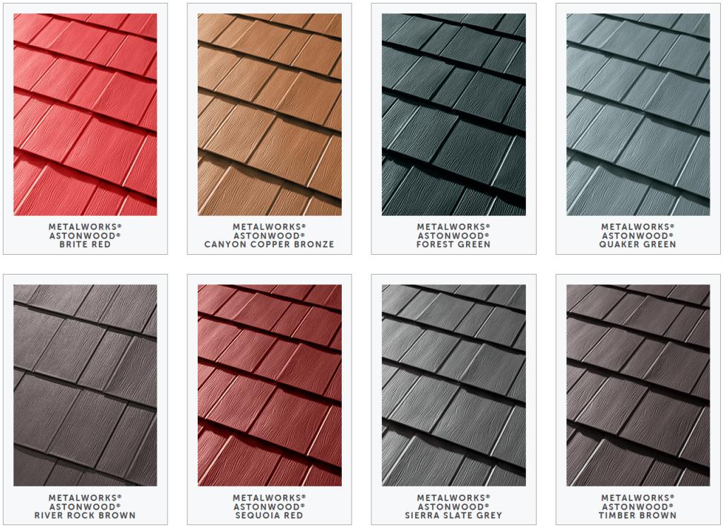 metal roof shingles types
