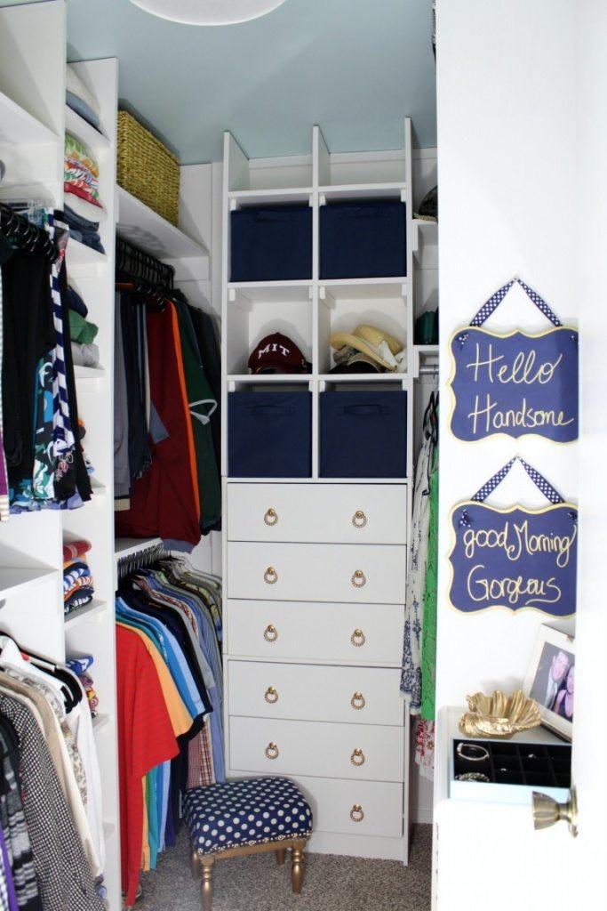 simple small walk in closet ideas