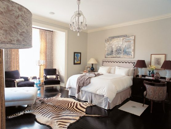 zebra skin rug - soft bedroom rugs