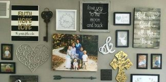 gallery wall decor ideas rustic style
