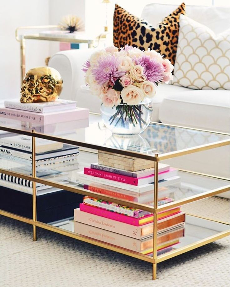 cool brass coffee table decor ideas