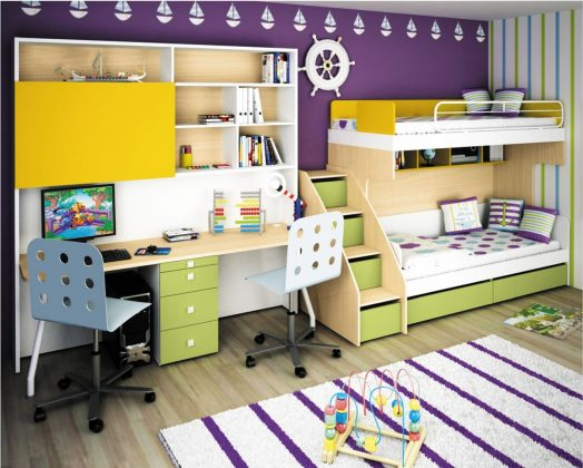 Bunk Bed with Desk for 2 kids bunk bed