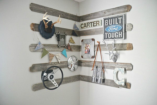 rustic wooden wall decor - wall paneling