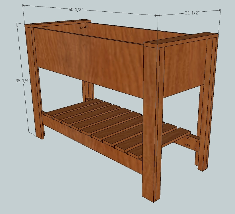 elevated planter box plan - raised planter box plan