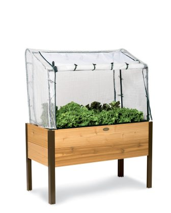 elevated planter box for vegetables