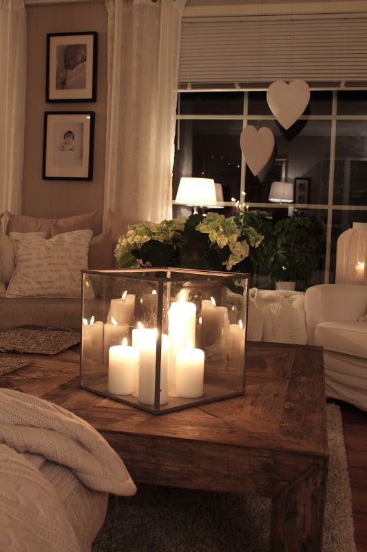 candle focal point coffee table decor ideas