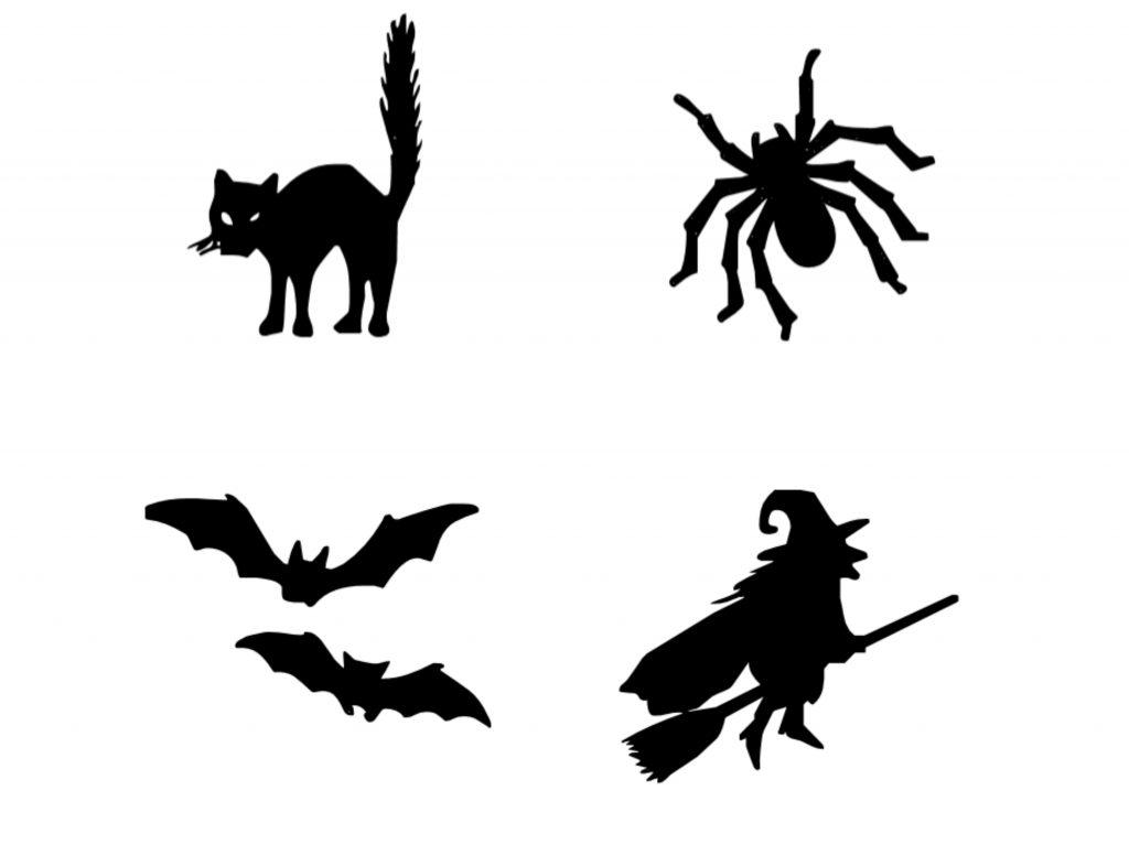 Printable halloween decoration stickers