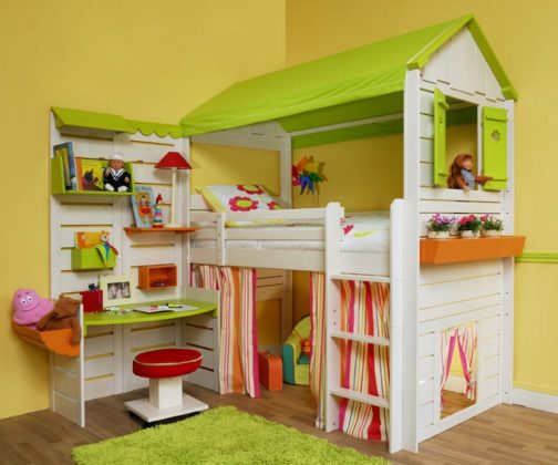 Bunk Bed with Desk - Bed with play area