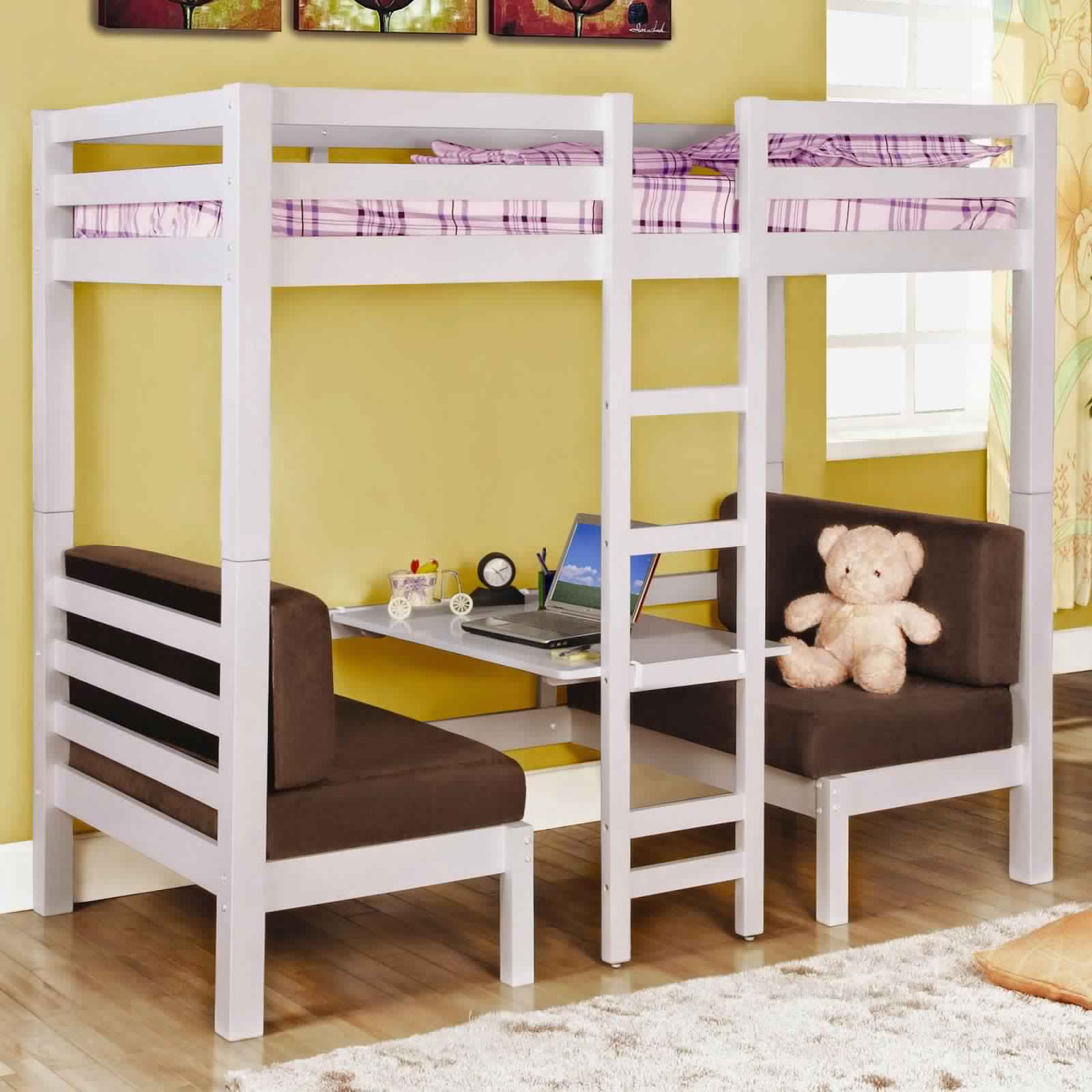 Bunk Bed with Desk for children