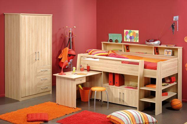 Bunk Bed with Desk Child bedroom