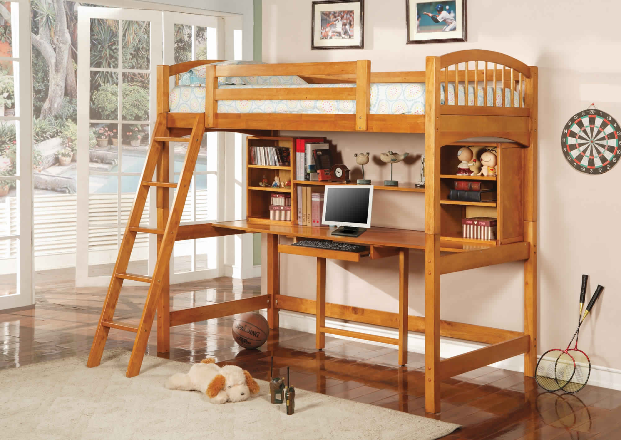 Bunk Bed with Desk for children room