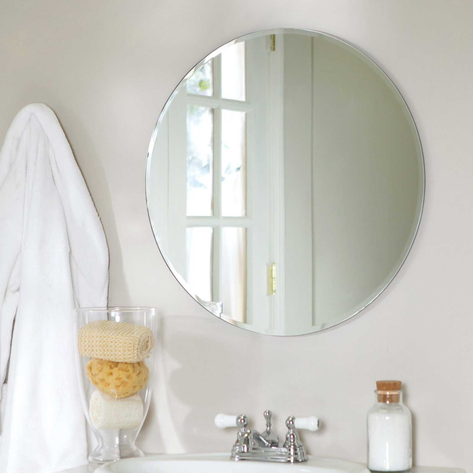 Modern Bathroom Design Circle Mirror