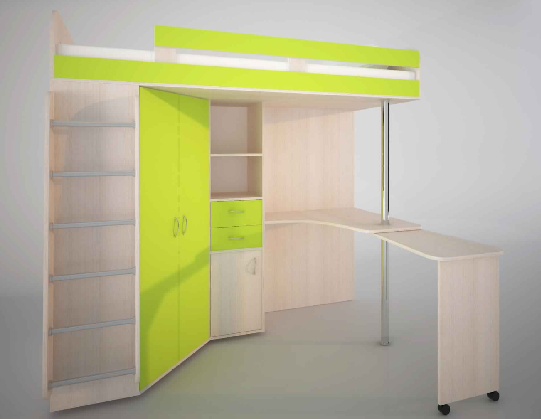 Bunk Bed with Desk creative design