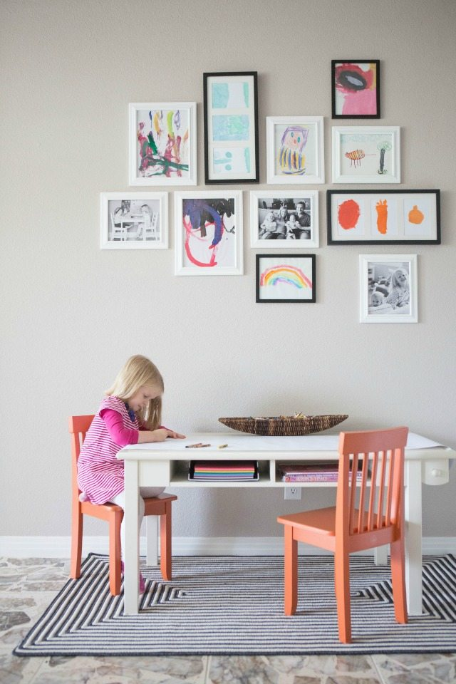 kids art gallery wall ideas