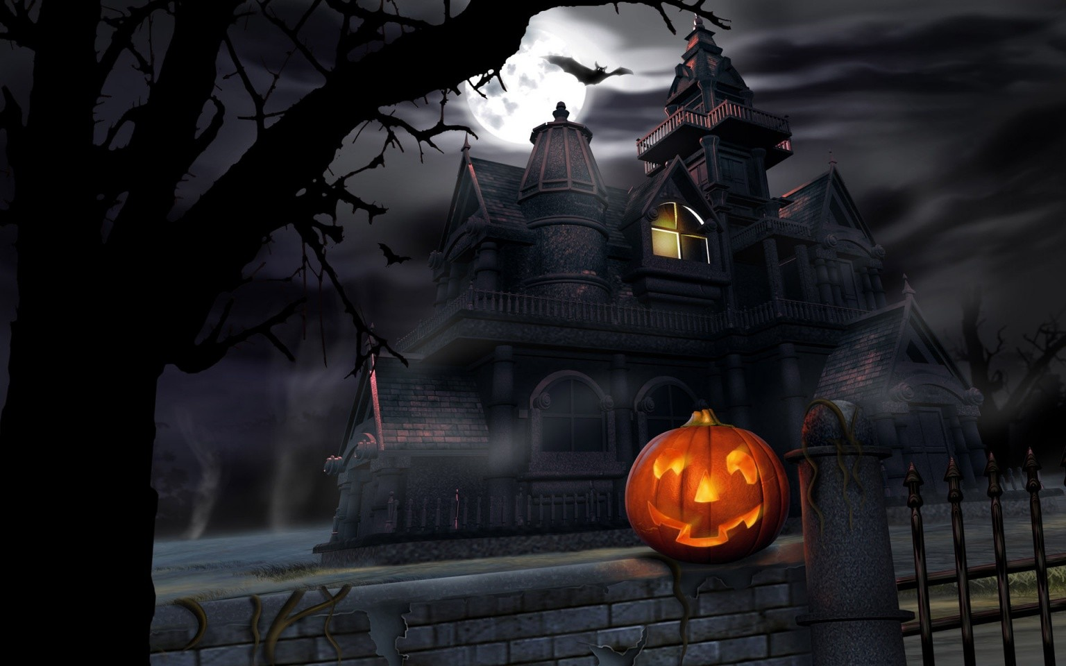 Outdoor Halloween Decorations scary pumpkin and house