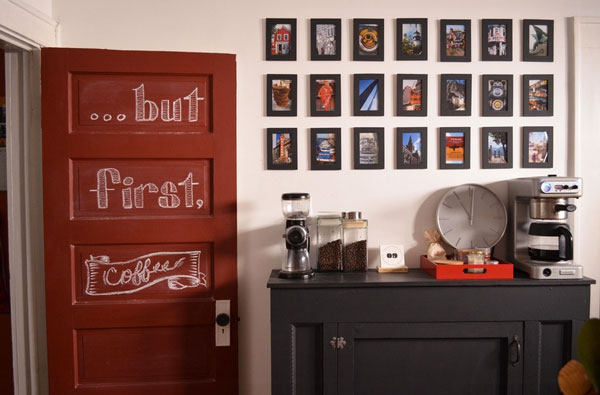 home coffee station - coffe bar ideas