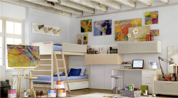 Bunk Bed with Desk Interior design for bunk bed