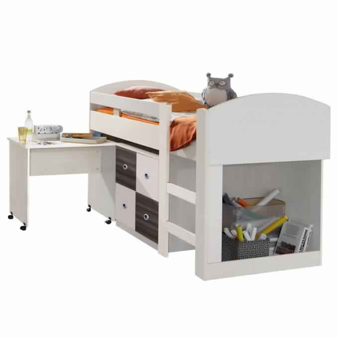 Bunk Bed with Desk for kids to store their toys