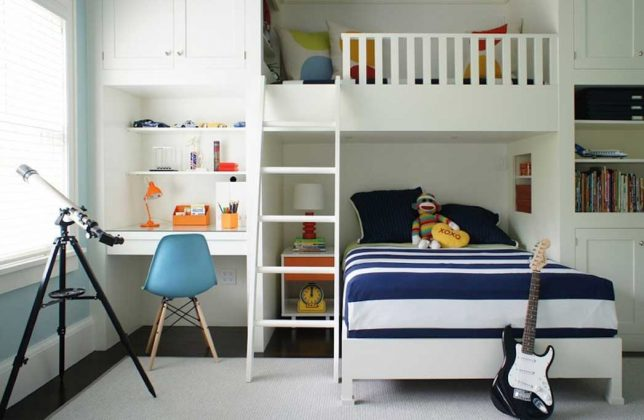 Bunk Bed with Desk - Loft bed teen