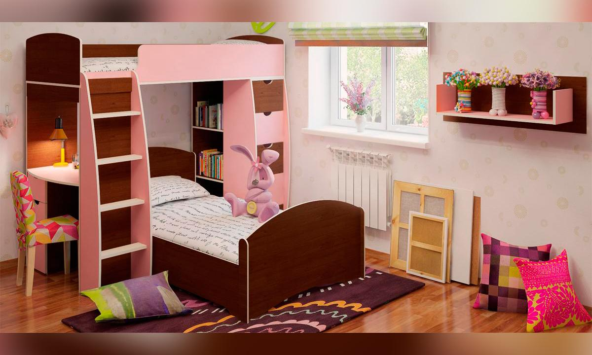 Bunk Bed with Desk nice design for girl