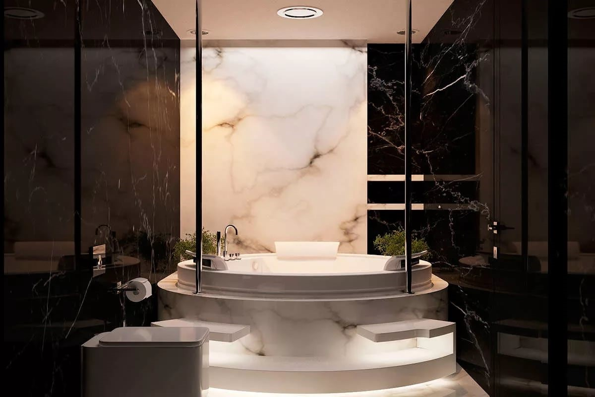 Modern Bathroom Design Luxury Marble - Elegant marble design