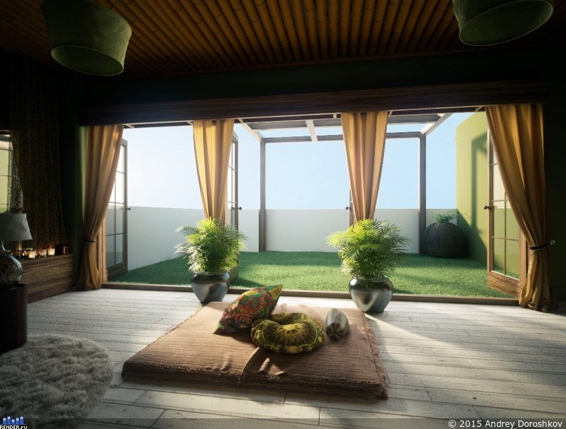 Meditation Room Decorating with Nature View