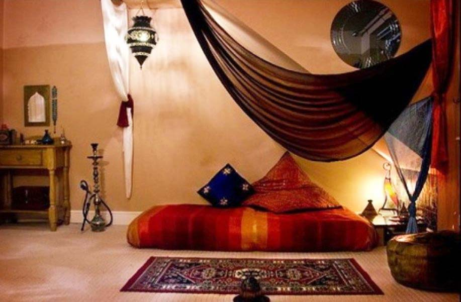 Meditation Room Decorating for relaxation in the Oriental style