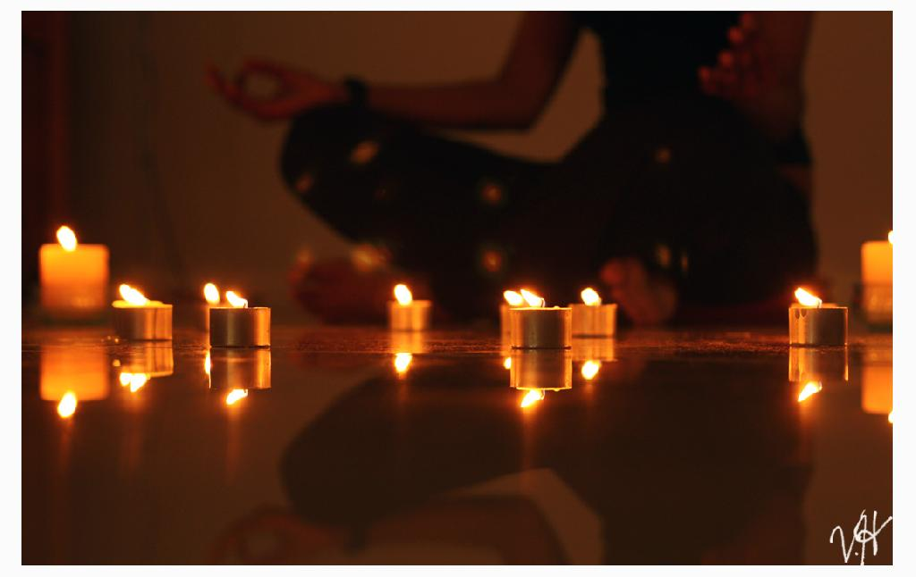 Meditation Room Decorating - Meditation with a candle