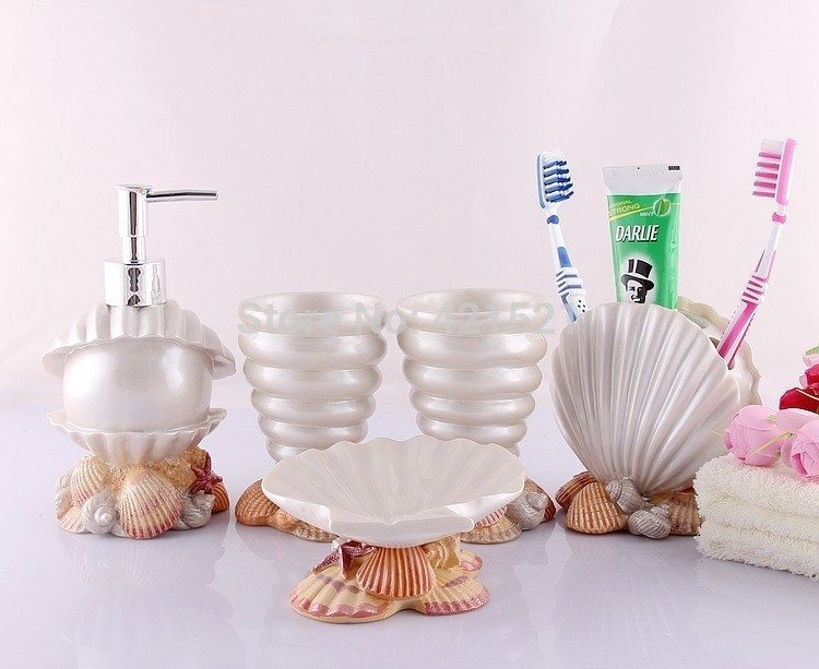 Modern Bathroom Design Pearl Shell Set