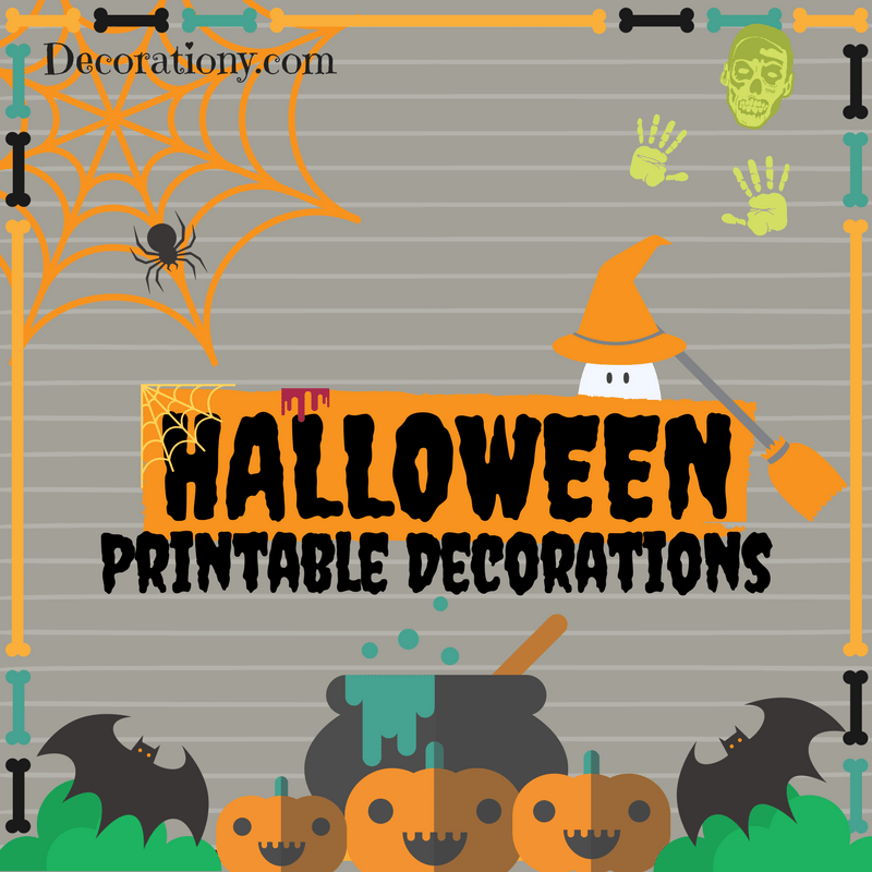 Halloween printable decorations free designs