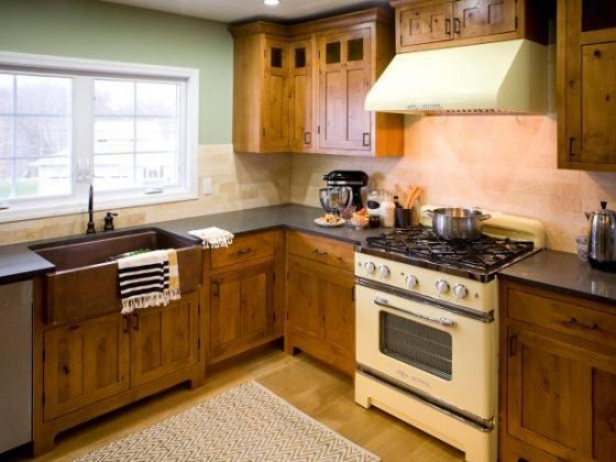 Rustic kitchen cabients HGTV