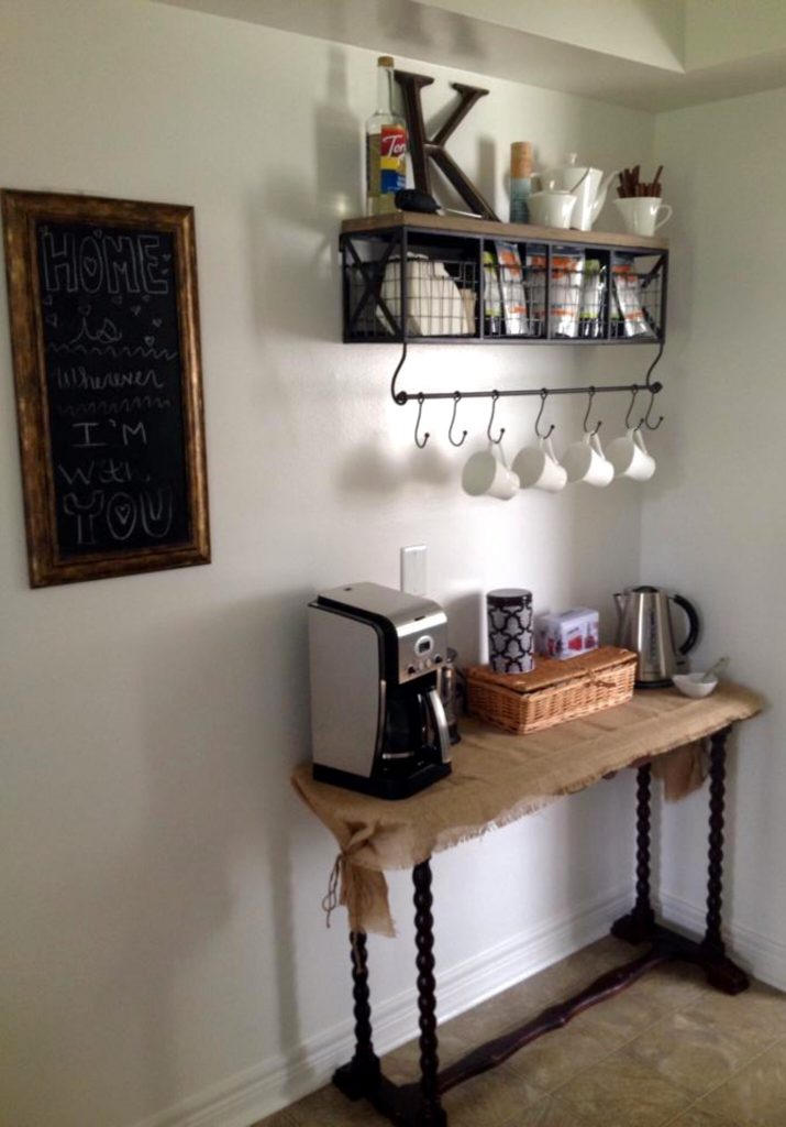 small coffee corner