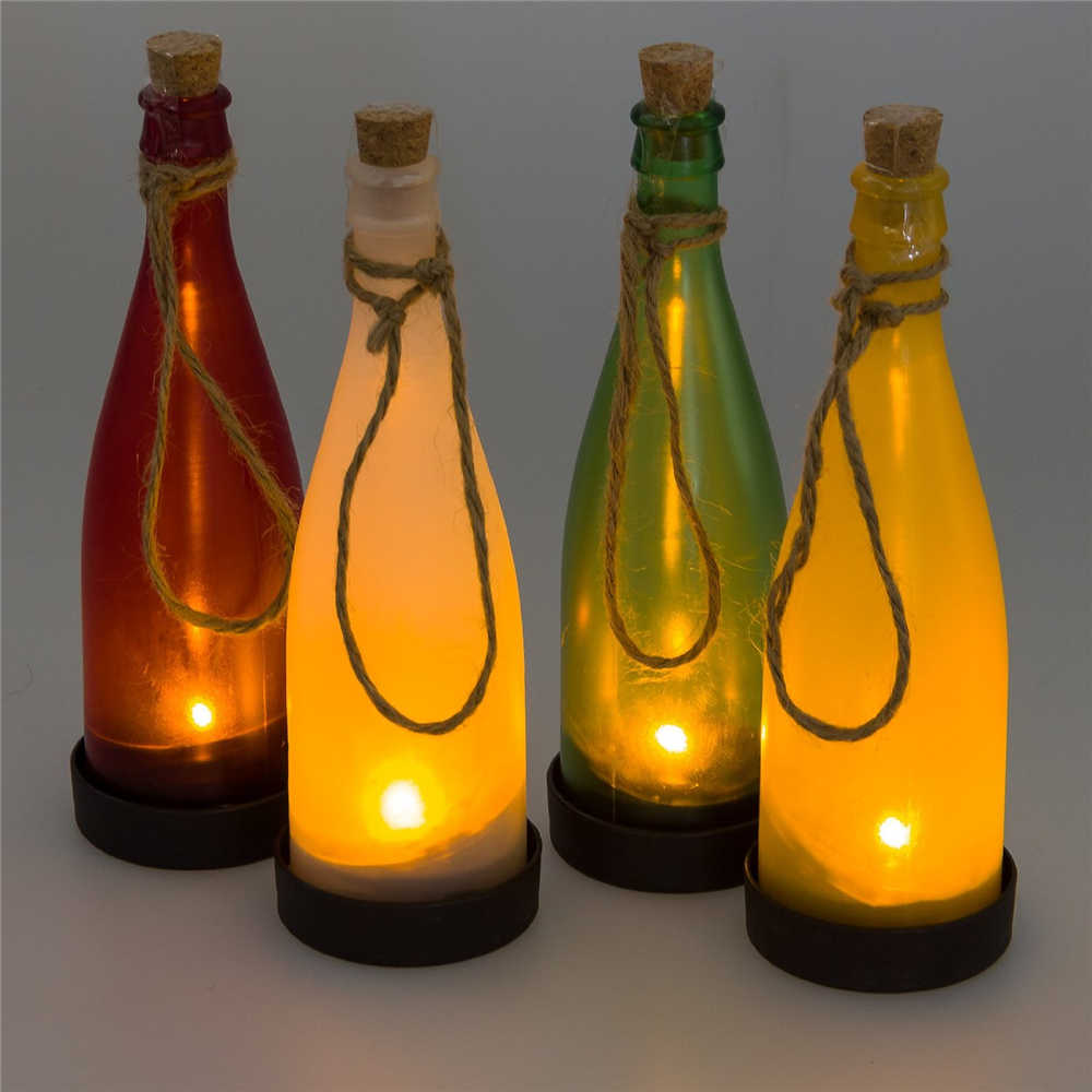 outdoor solar lighting ideas diy led light bottles