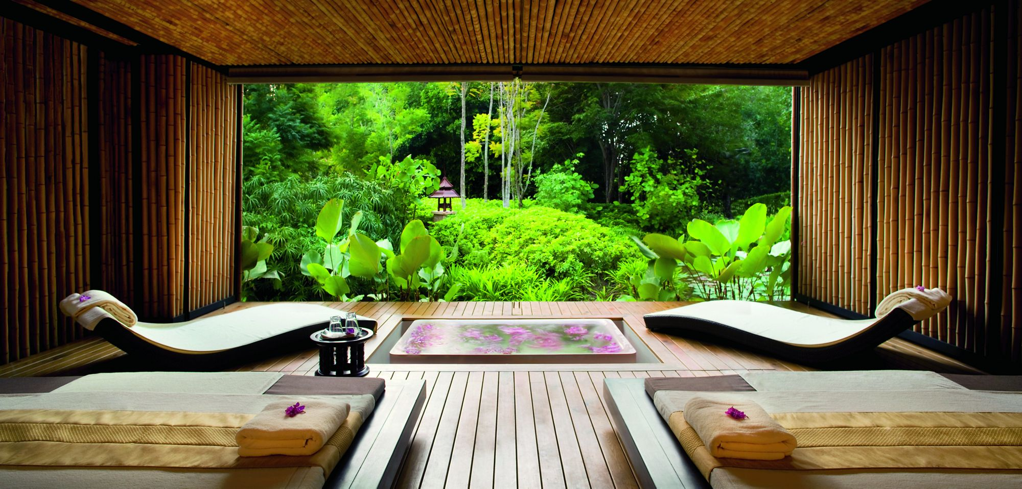 Meditation Room Decorating in SPA for relaxation