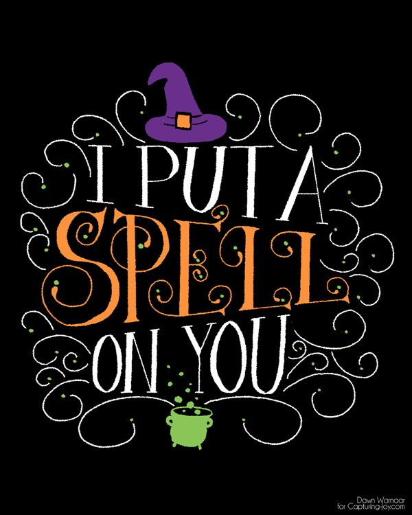 I put a spell on you halloween printable