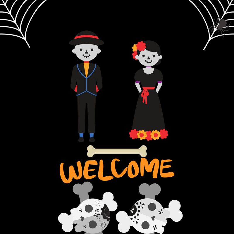 printable welcome halloween sign - halloween decorations