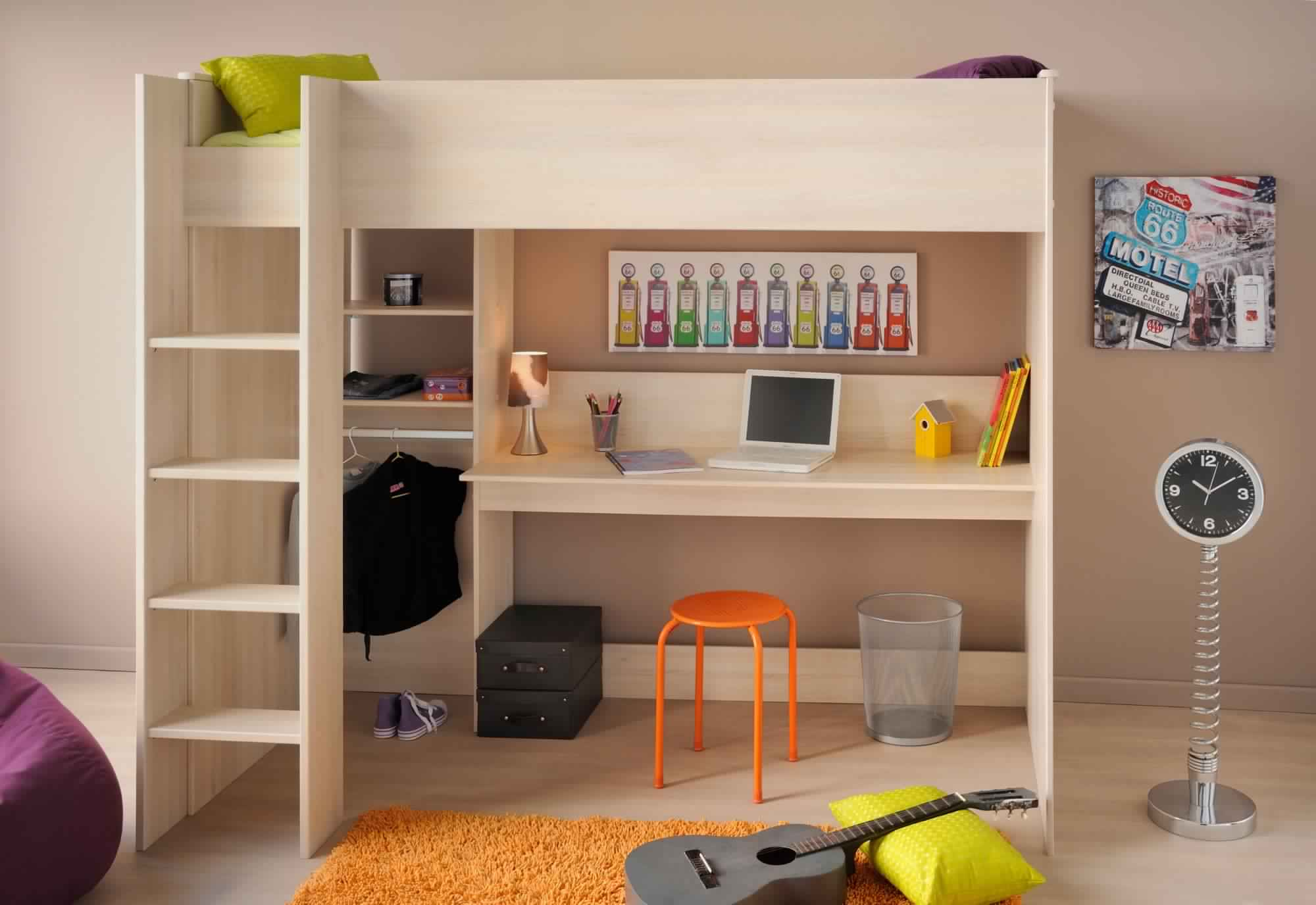 Bunk Bed with Desk for teenagers to save their issues