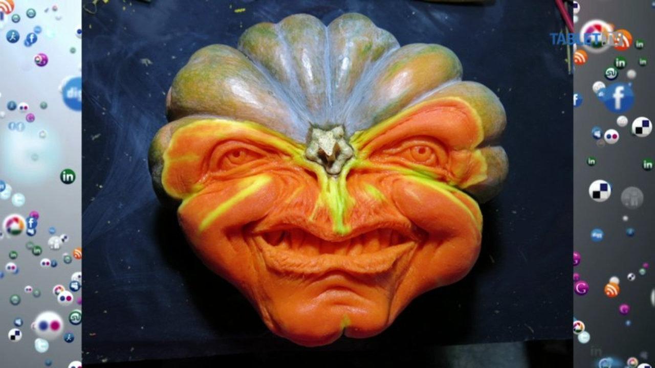 Outdoor Halloween Decorations Ugly face pumpkin