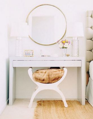 White-Vanity-Desk-Micke-from-IKEA-with-large-Mirror