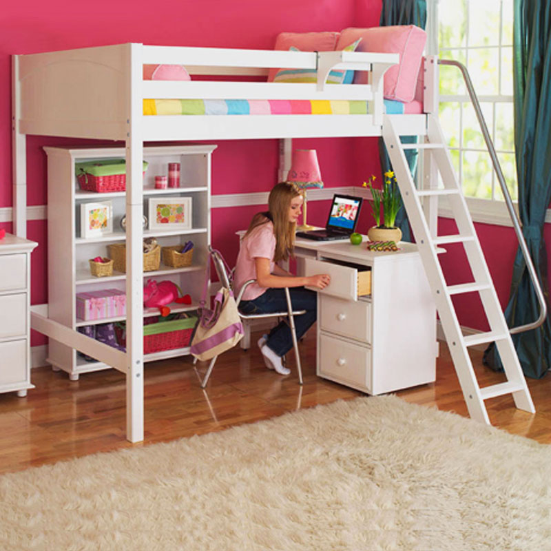 Bunk Bed with Desk in awsome colors