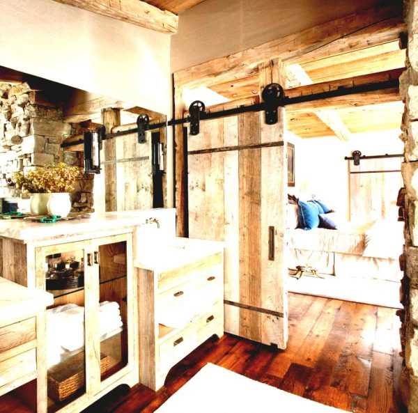 bathroom-cabinet-hardware-vanity-ideas-traditional-with-neutral-rustic-wall-mount-faucet-exposed-beams