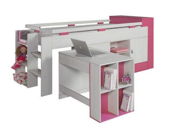 Bunk Bed with Desk beauty girl bedroom