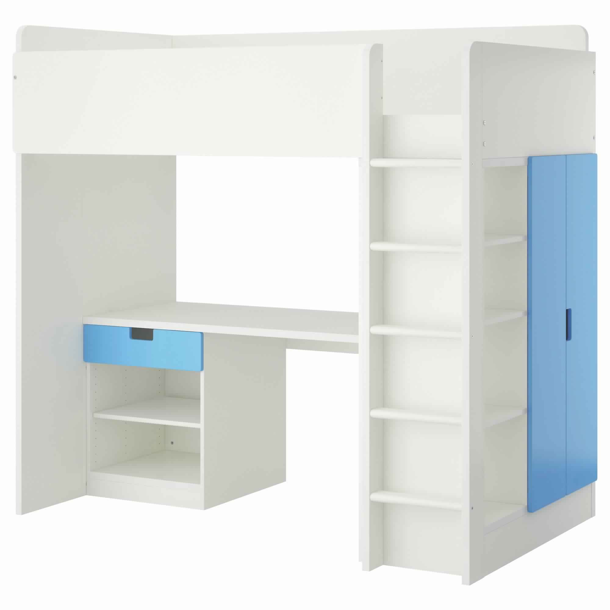 Bunk Bed with Desk and Storage space