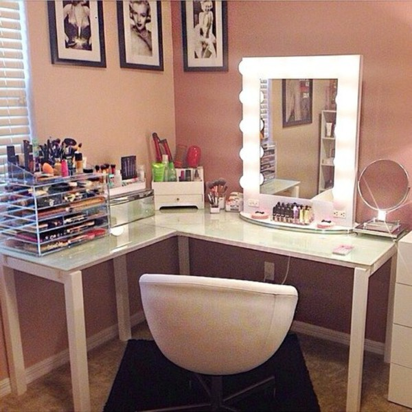 makeup vanity small places ideas