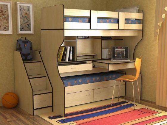 Bunk Bed with Desk boys bunk bed