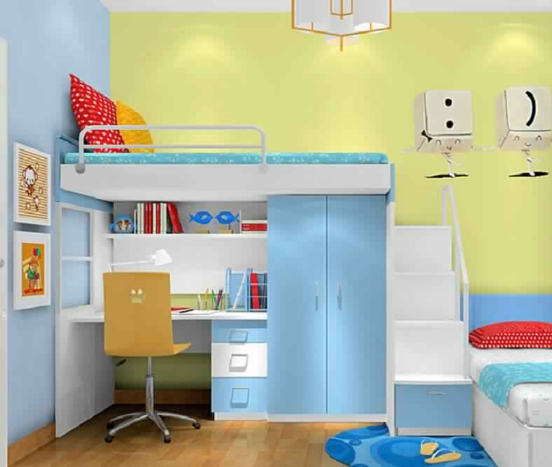 Bunk Bed with Desk for children home furniture