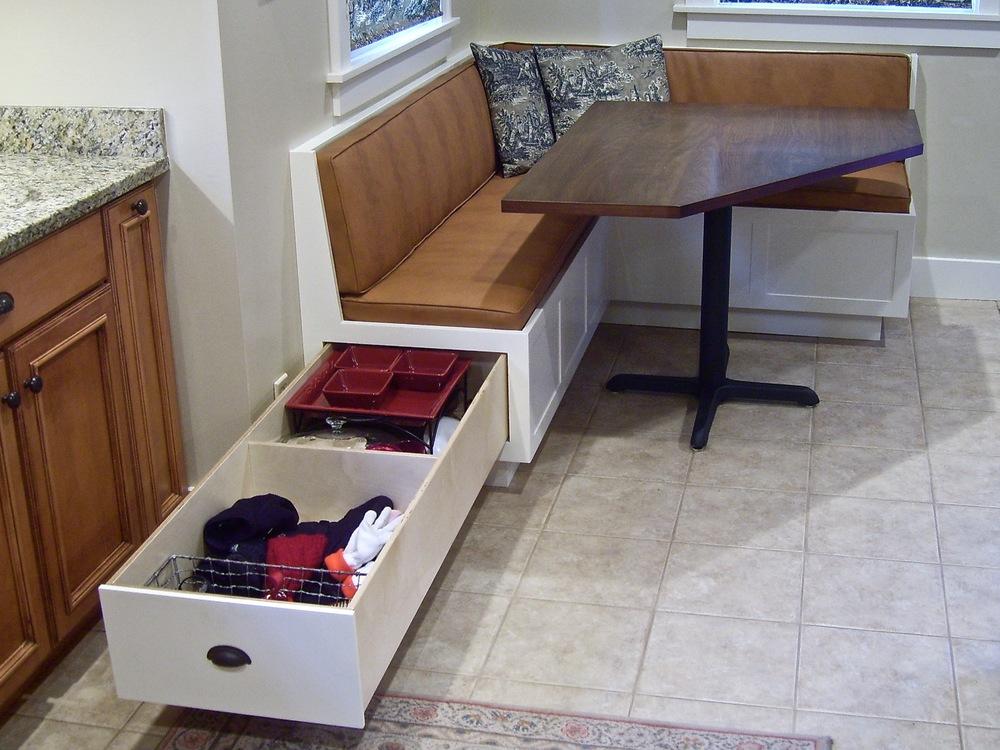 corner dining set with storag