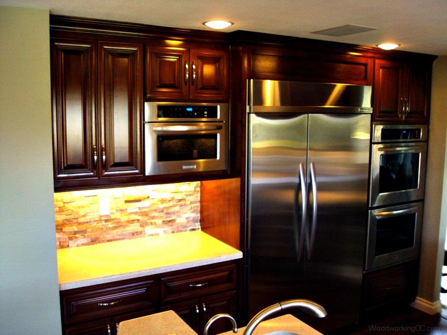 new dark kitchen cabinets