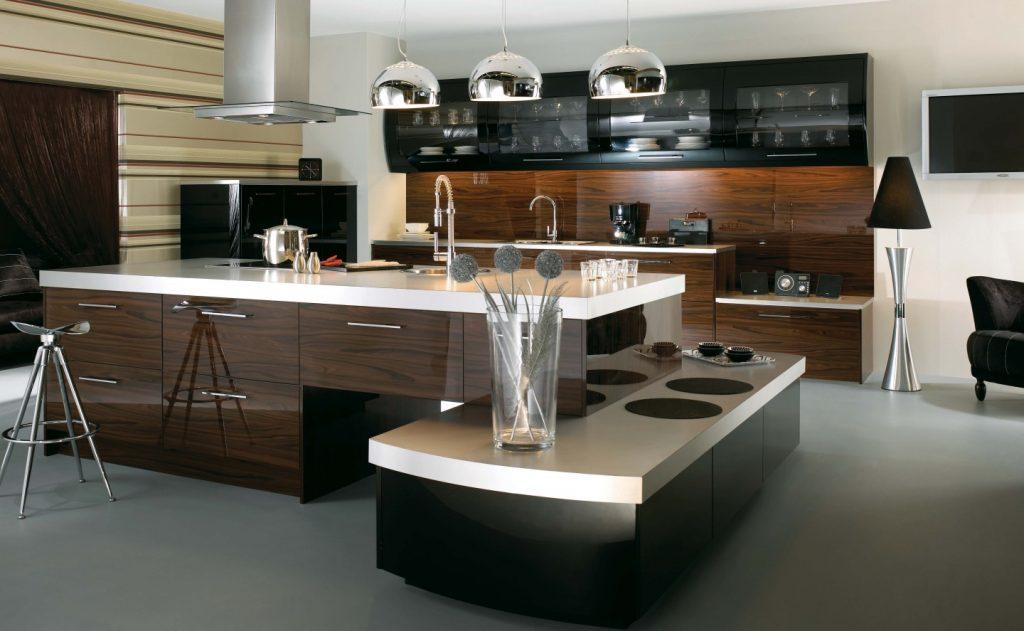 dark kitchen cabinets decoration