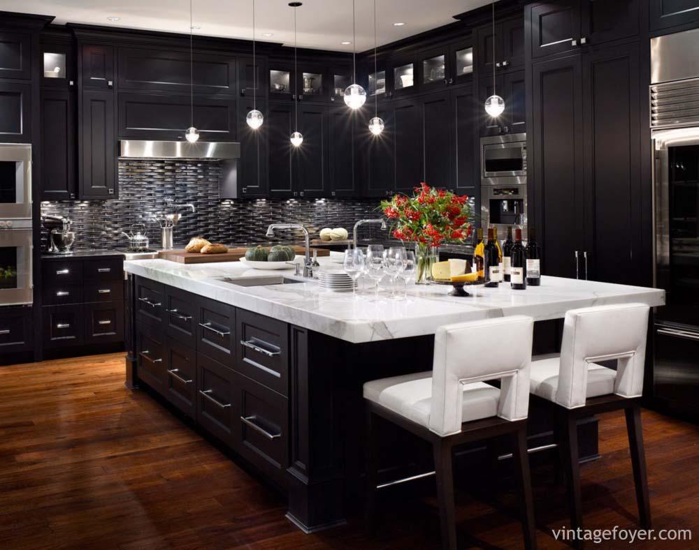 cool dark kitchen cabinets